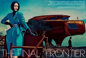 Toni Garrn & Niklas Garrn for Us Vogue September Issue bei steven klein