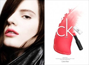 Tilda Lindstam Star in ck One Cosmetics Fall 2013 Ca